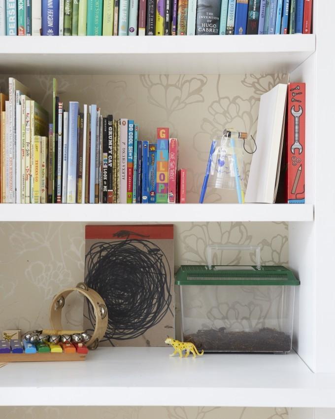 Jessi Randall of Loeffler Randall's Sleek White Park Slope, Brooklyn Renovation - Modern Office and Bookshelf Design