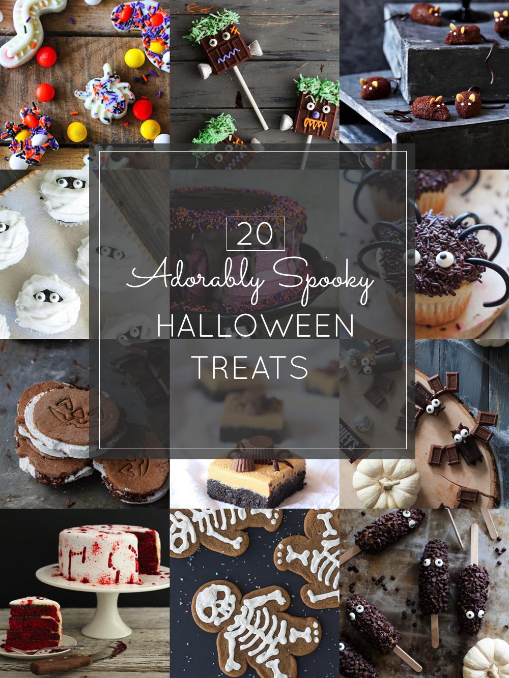 20 Adorably Spooky Scary Halloween Sweets Treats Desserts Recipes