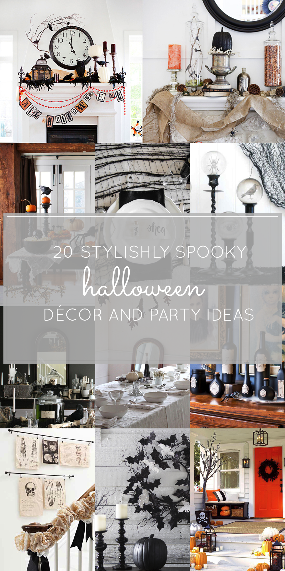 20 Stylishly Spooky Chic Hallowen DÉCOR AND PARTY IDEAS
