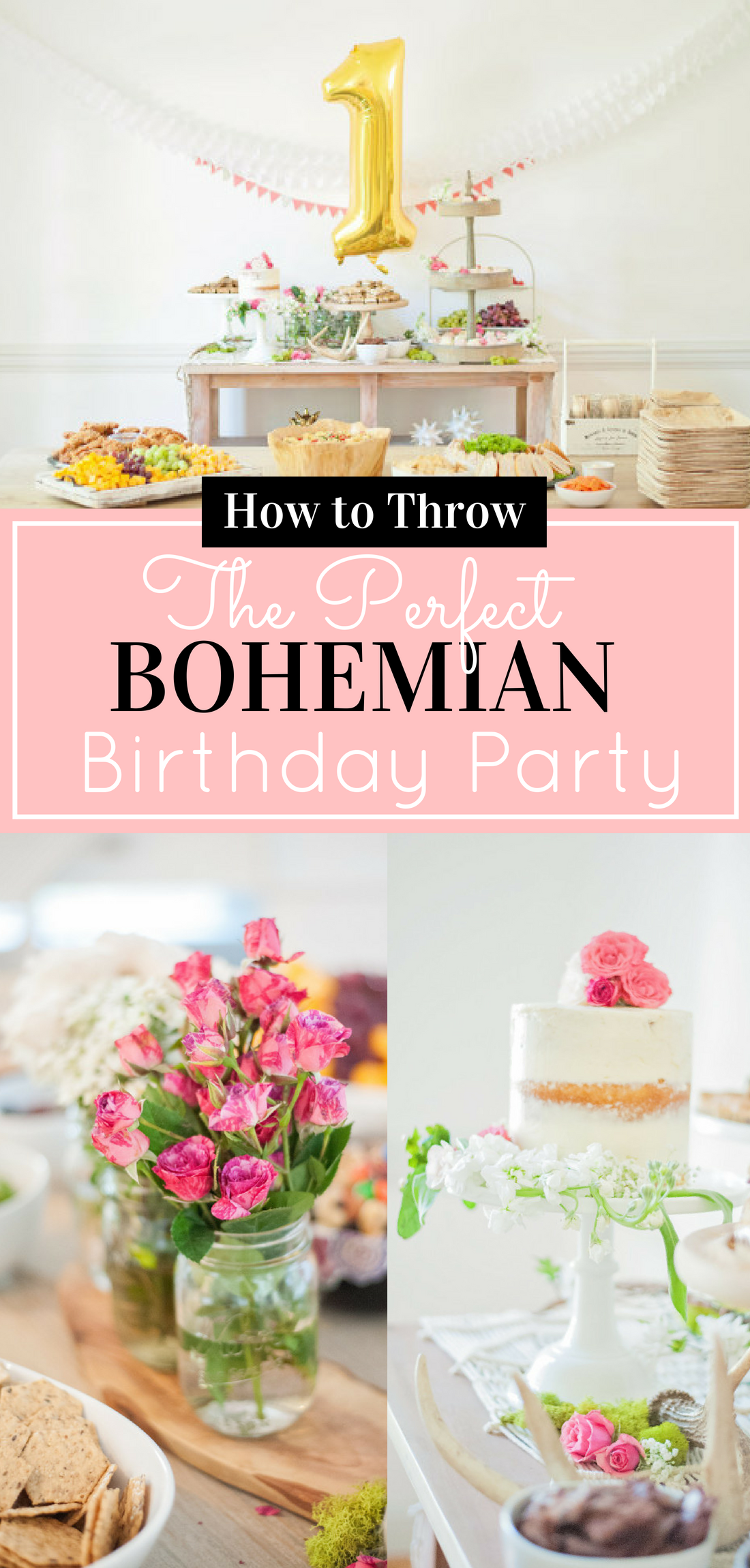 Bohemian Party - Baby's First Birthday - Inspiration; featured on Style Me Pretty Living. #birthday #firstbirthday #firstbirthdayparty #birthdayparty #babybirthday #babysbirthday #bohemianparty #bohemianbirthday | glitterinc.com | @glitterinc