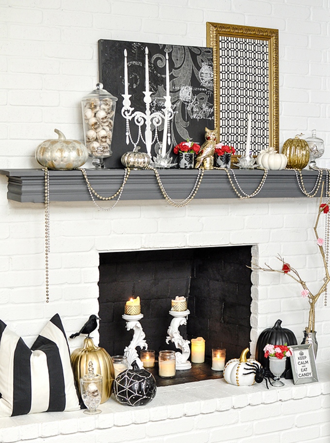 Glam Halloween Mantle