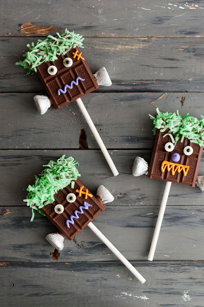 Chocolate Monster Pops for Halloween