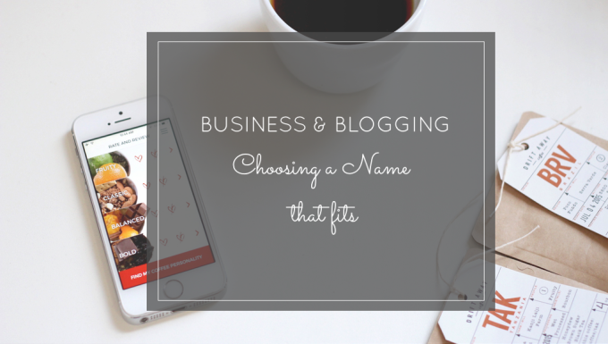 Business & Blogging: Choosing a Name That Fits (Example: Driftaway.Coffee)