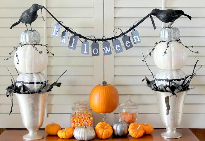 DIY Pumpkin Topiaries for Halloween