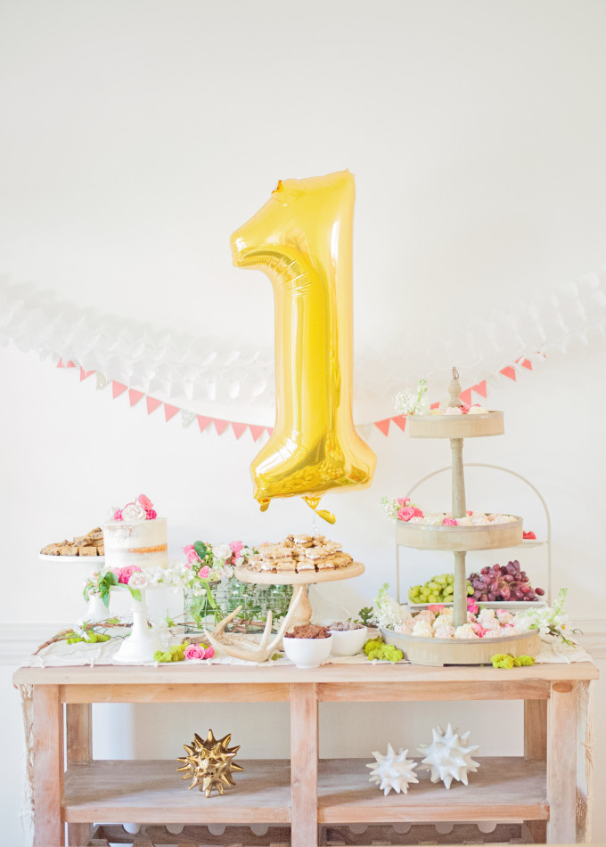 First Birthday Bohemian Backyard Party