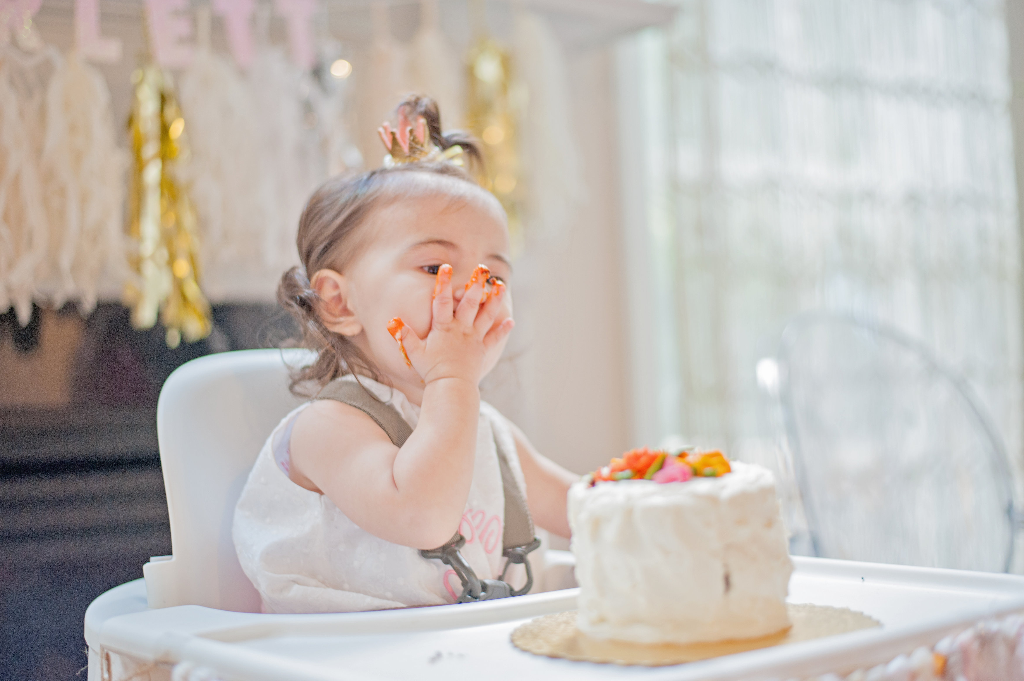 First Birthday Bohemian Backyard Party - smash cake