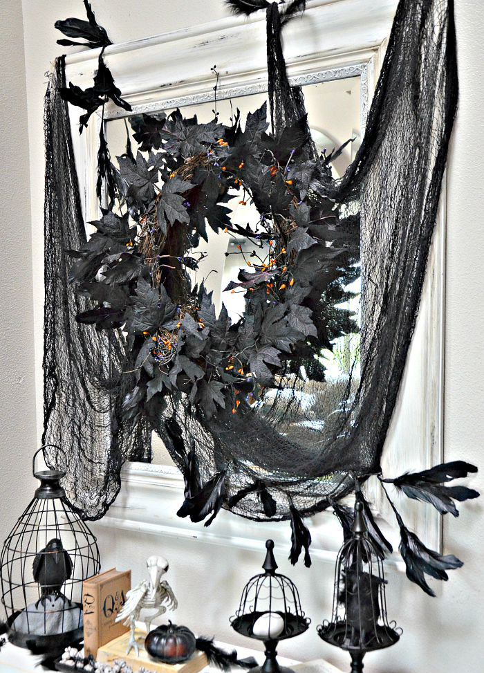 Entryway Halloween Decor