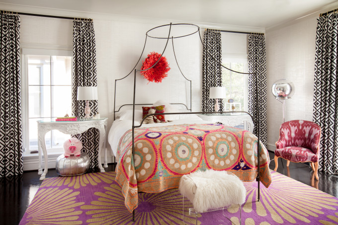 20 Ways to Decorate with African Juju Hats - Feather Headdresses - Interior Design - Girls Bedroom with African Juju Hat