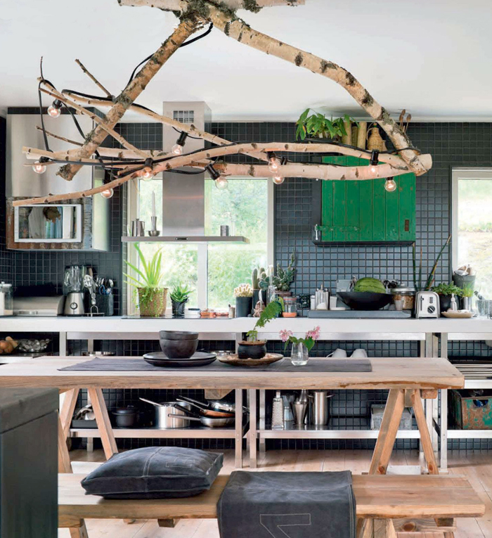 Indoor-Kitchen-Dining-room-Rustic-Branch-Chandelier-Hanging-Globe-String-Lights