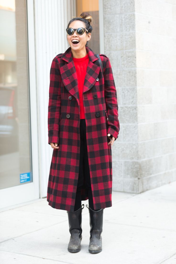 Shop the Trend: 22 Adorable Plaid Statement Coats for Fall and Winter (red tartan street style)