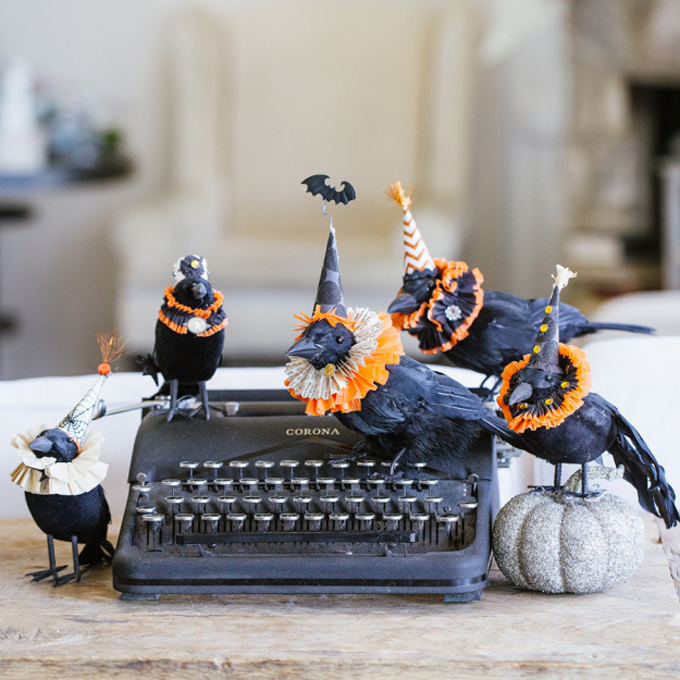 DIY Spooky Halloween Elizabethan Crows