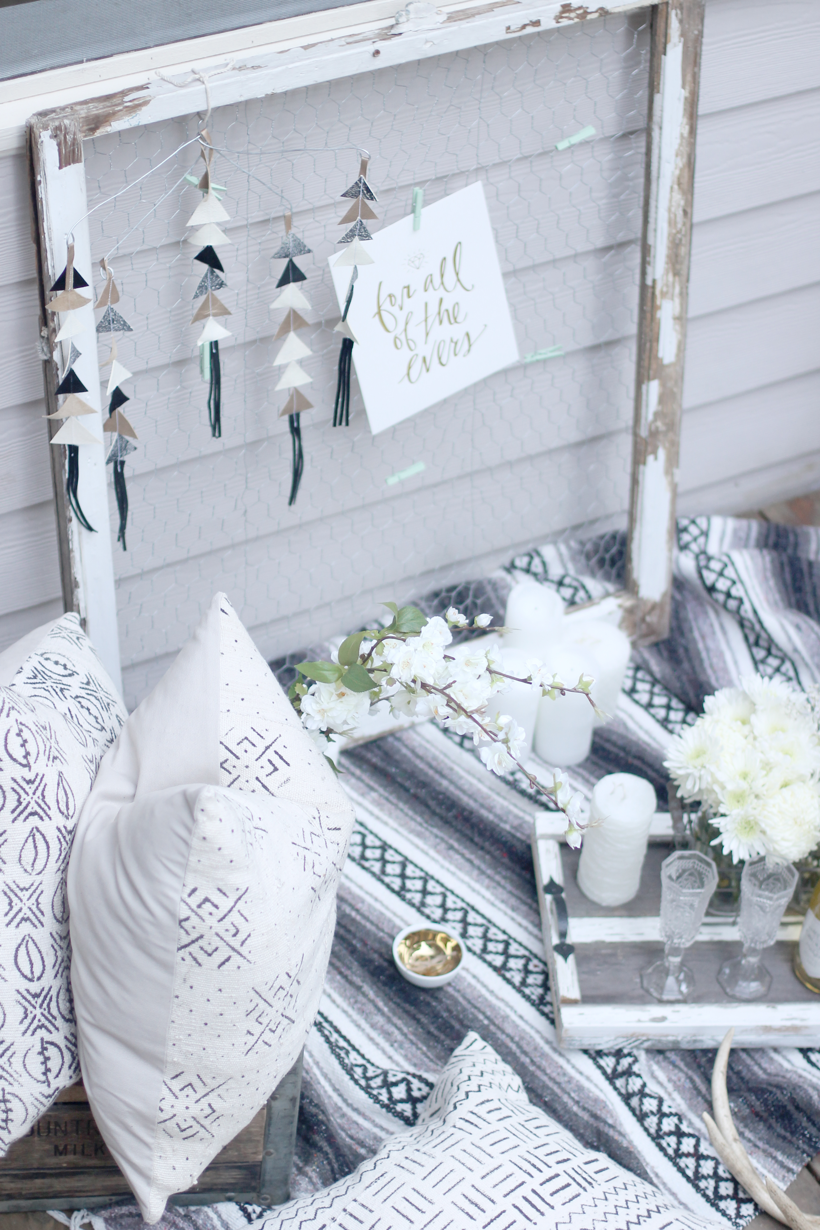 The Perfect Shabby Chic Proposal Picnic