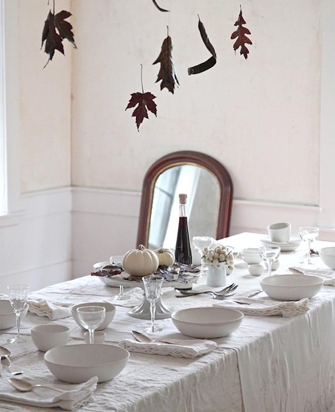 Simple Rustic Halloween dinner Table