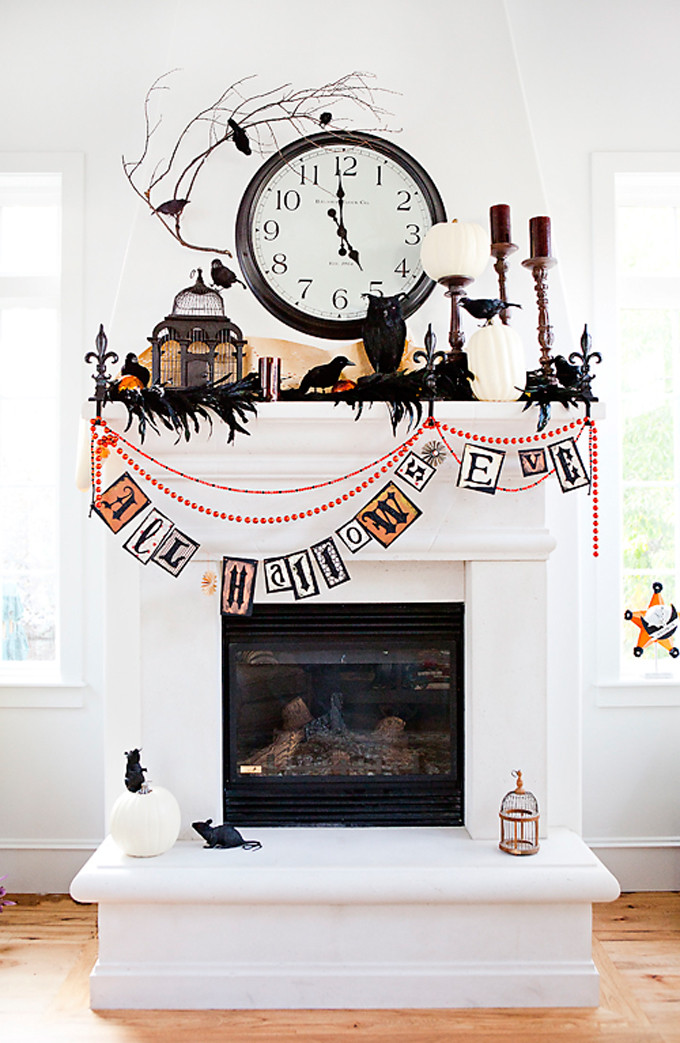 Enchanted Halloween Mantle