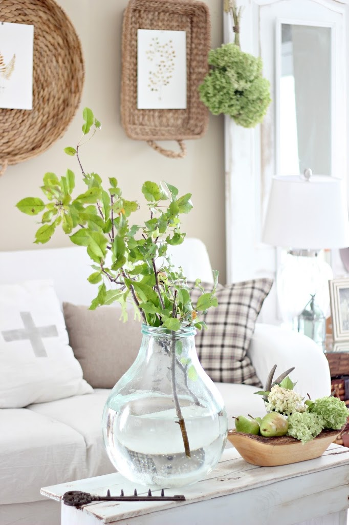 Fall Home Tour - Craft-filled Living Room