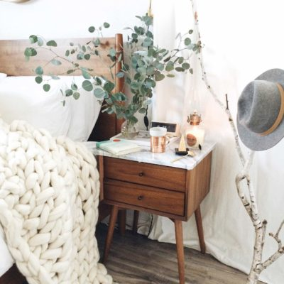 gigantic oversized knit wool blanket bedroom
