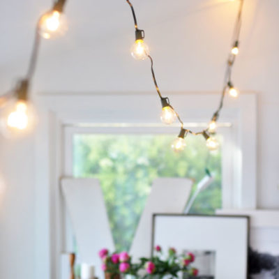 Decorating With Hanging Globe Lights Indoors