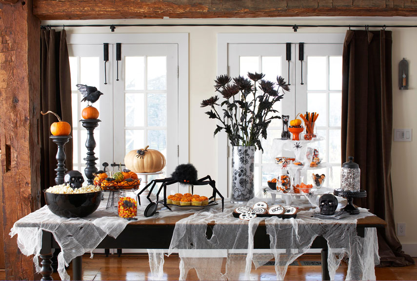 20 stylish halloween dcor and party ideas glitter incglitter inc - Sophisticated Halloween Decorations