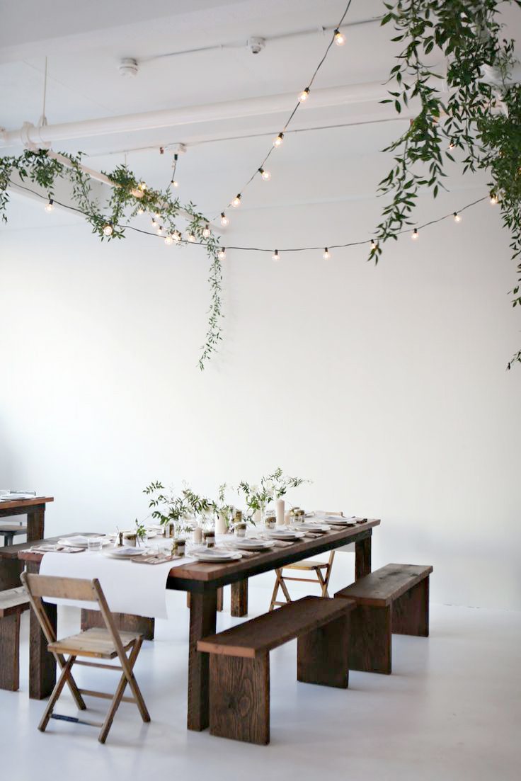 String Lights Dining Room