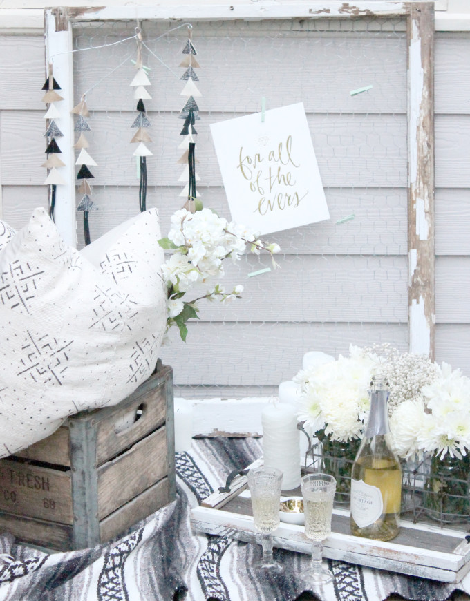 The Perfect Shabby Chic Picnic Proposal