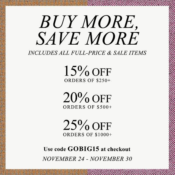 Buy More Save More Shopbop Sale - November 2015