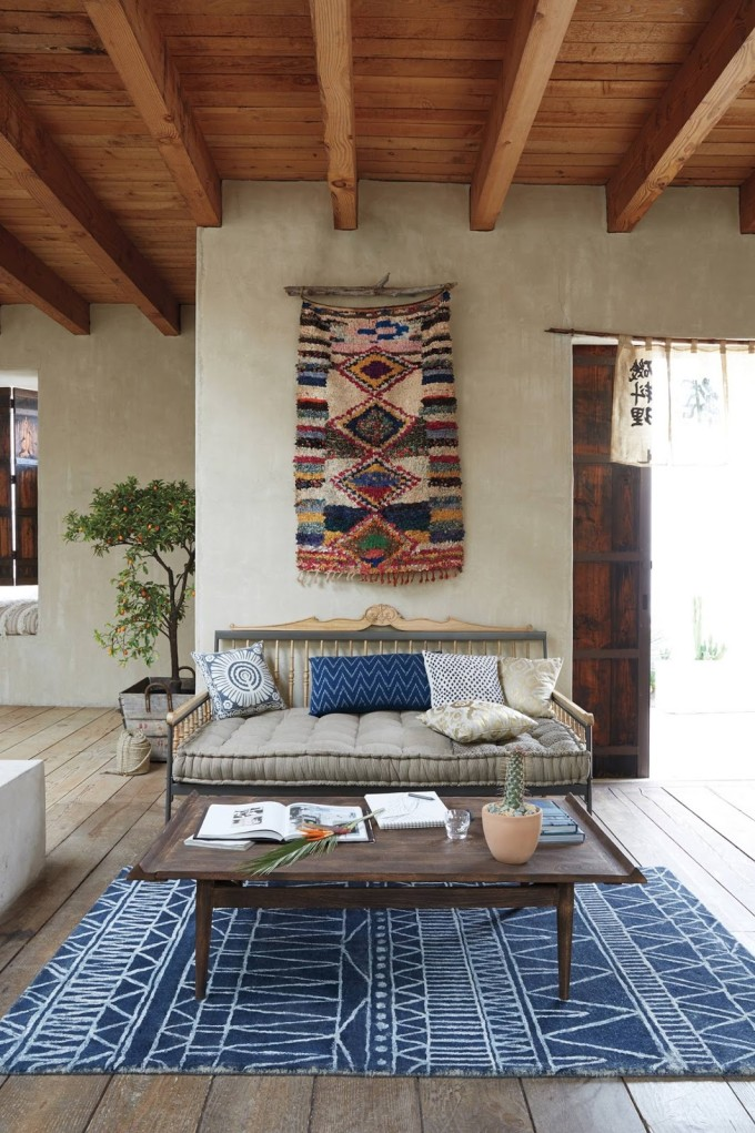 Interior Design Dreaming: The Daybed (plus so many more gorgeous options!) - Hand-carved Valpo Twin Daybed - Bohemian Outdoor Patio Design