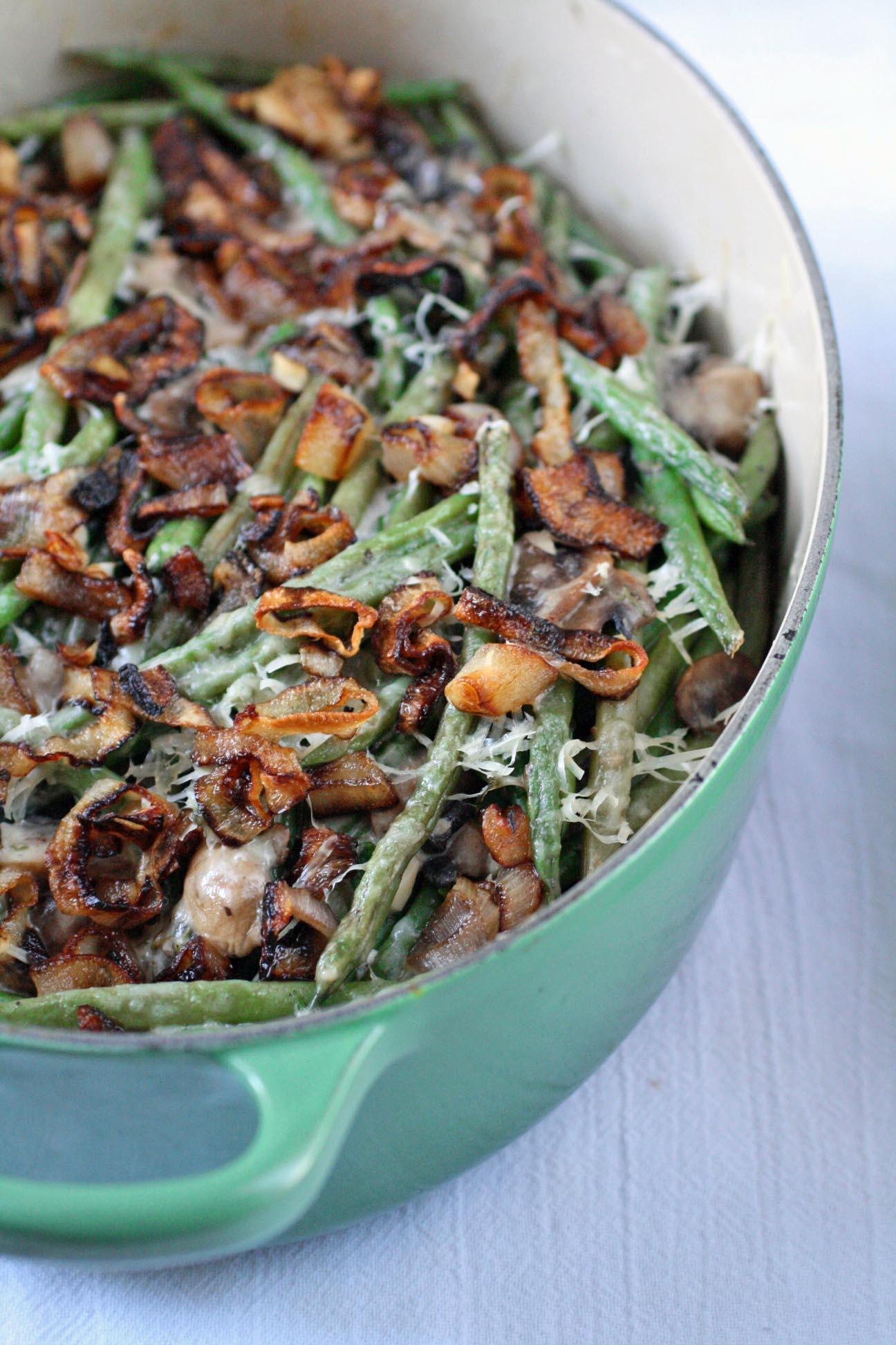 Homemade Green Bean Casserole With Crispy Shallots