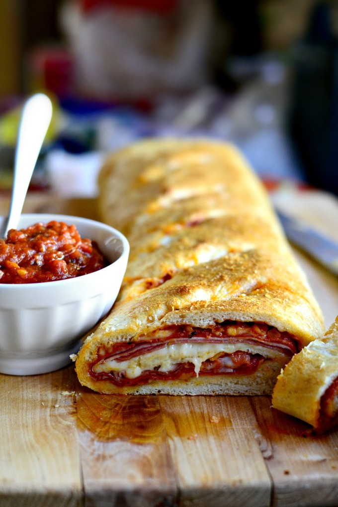 Homemade Stromboli - perfect as an appetizer!