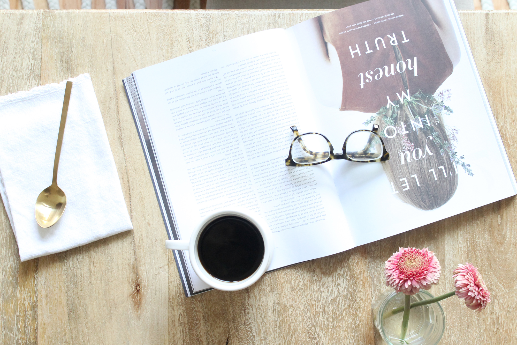 Holiday Pajama Party - SearsStyle Polka Dot Robe, Magazine and Coffee