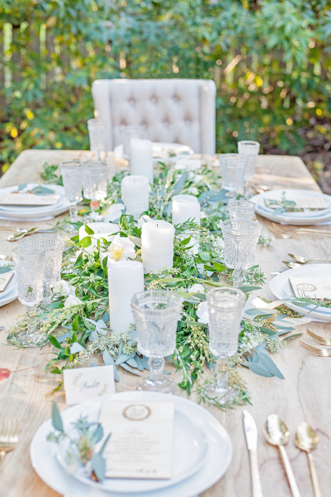Lush Outdoor Thanksgiving Table Setting - Styled Shoot