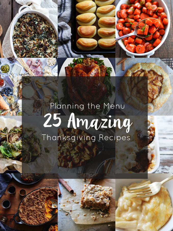 Planning the Menu - 25 Amazing Thanksgiving Recipes for the Holidays