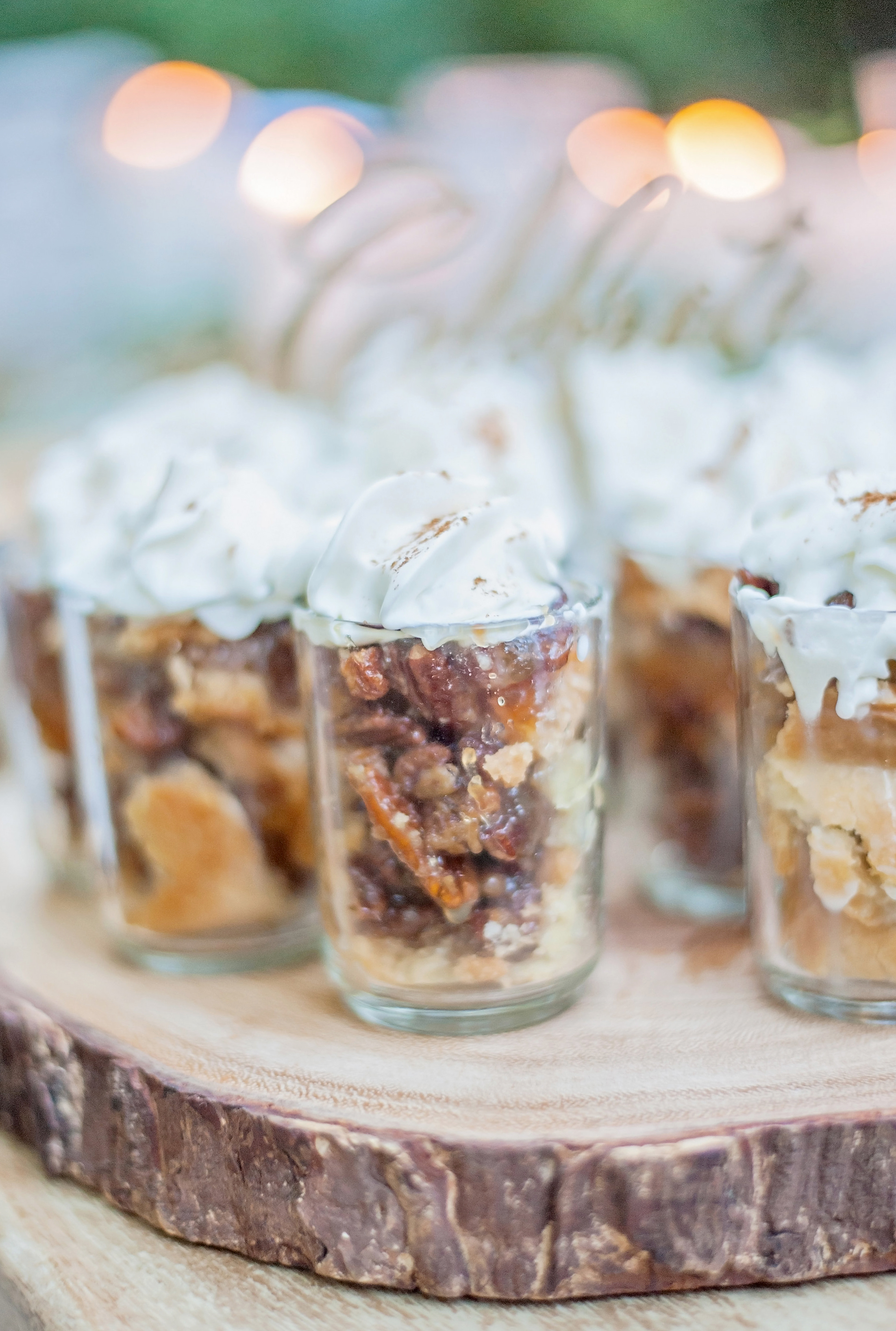 Rustic Thanksgiving - DIY Southern Pecan Pie Shooters
