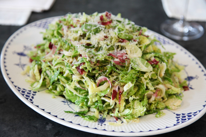 Shaved Brussels Sprout and Endive Salad with Parmesan