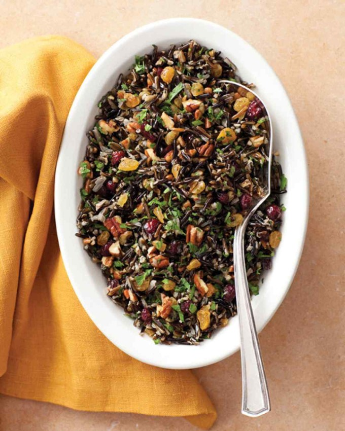 Wild Rice Pilaf with Cranberries and Toasted Pecans