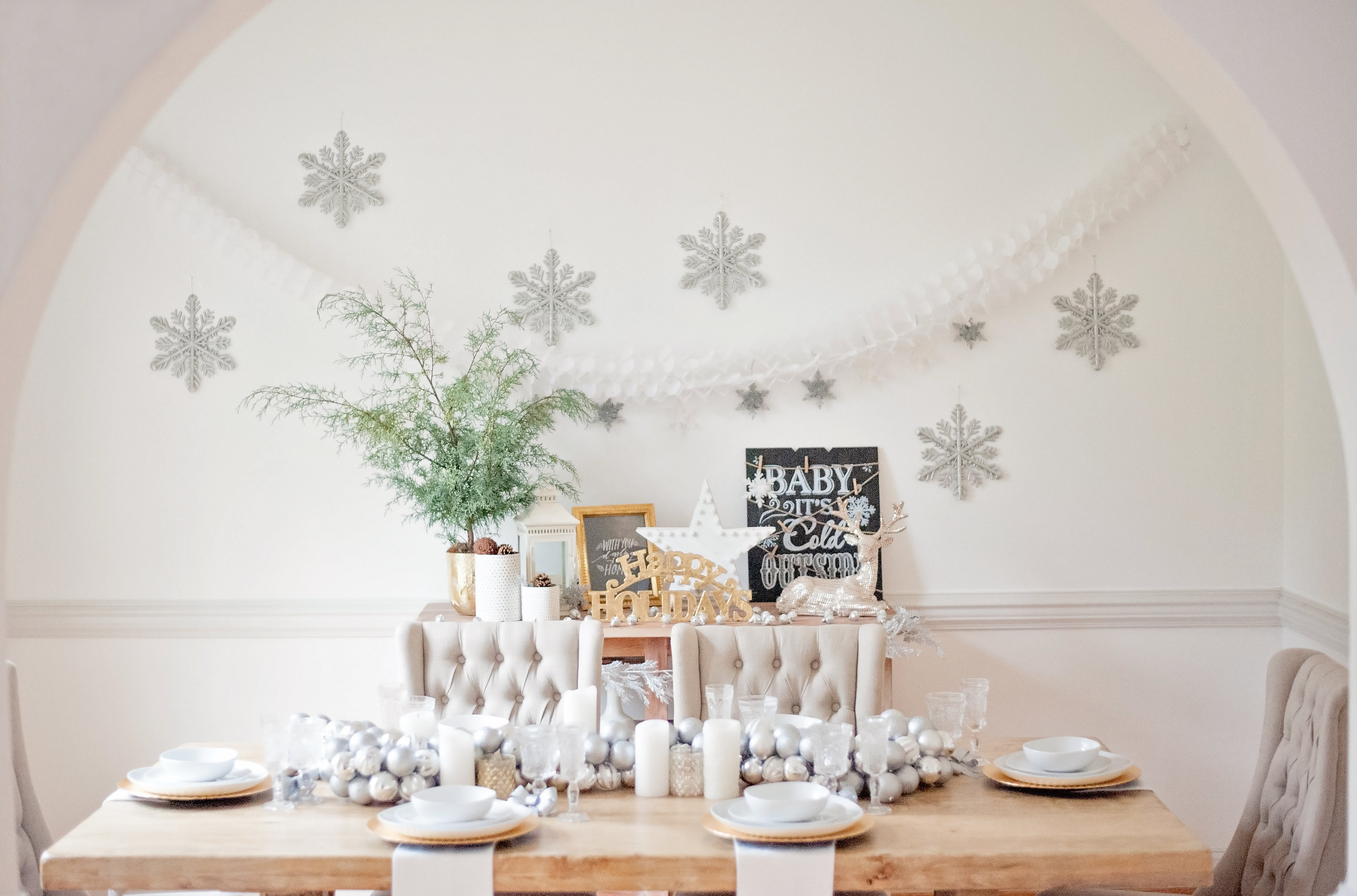 Winter Wonderland Dining Room Tour - main