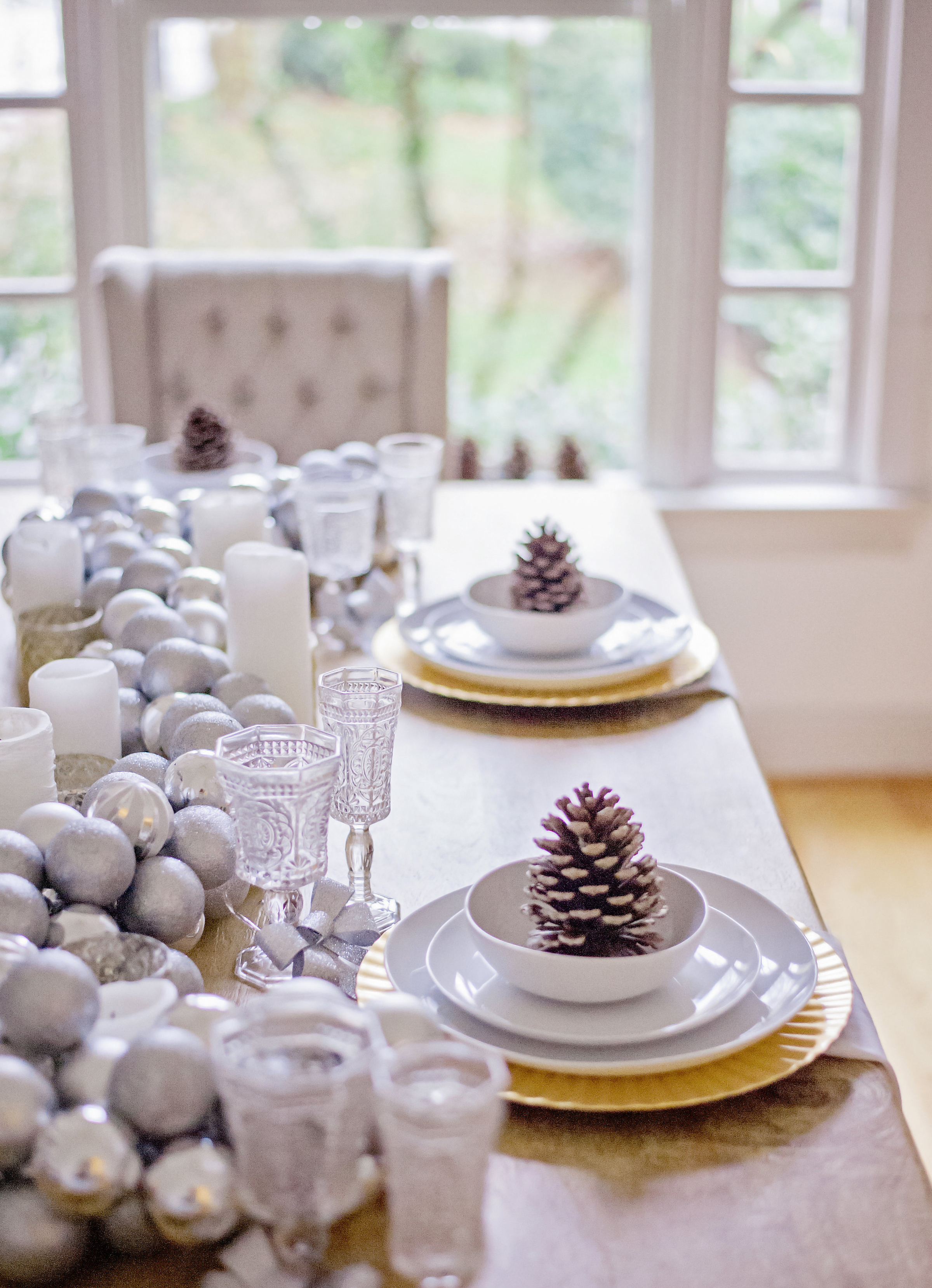 Dining Room Tour Winter Wonderland Glitter Inc