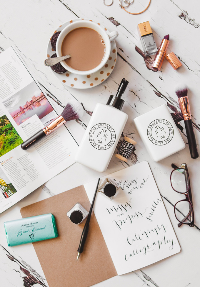 a few of my favorite things - coffee flat lay