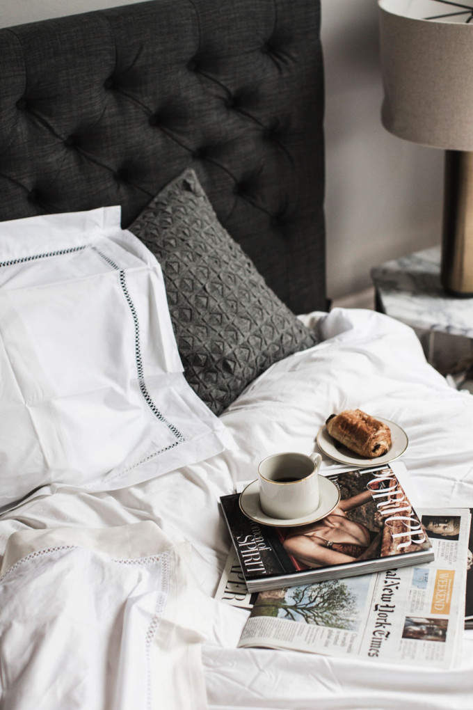 breakfast and magazines in bed - weekend sales