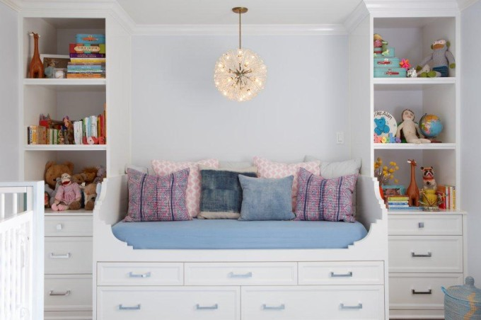 Interior Design Dreaming: The Daybed (plus so many more gorgeous options!) - built in daybed - molly sims bohemian nursery