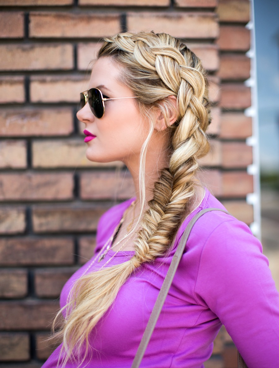 Dutch-turned-Fishtail Braid Tutorial DIY