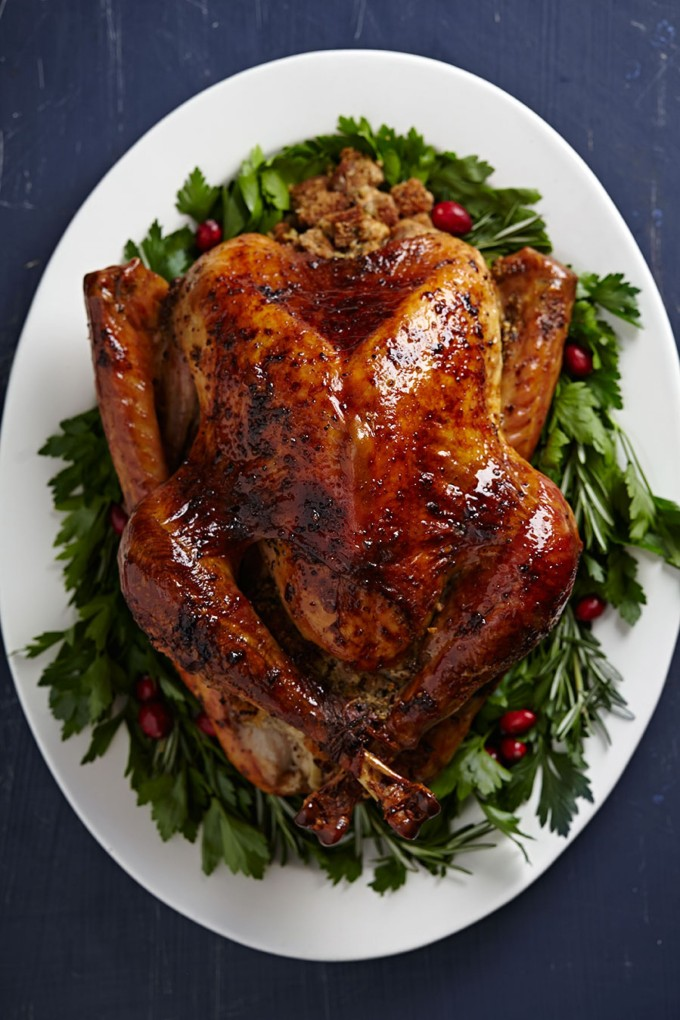 Brined and Roasted Thanksgiving Turkey