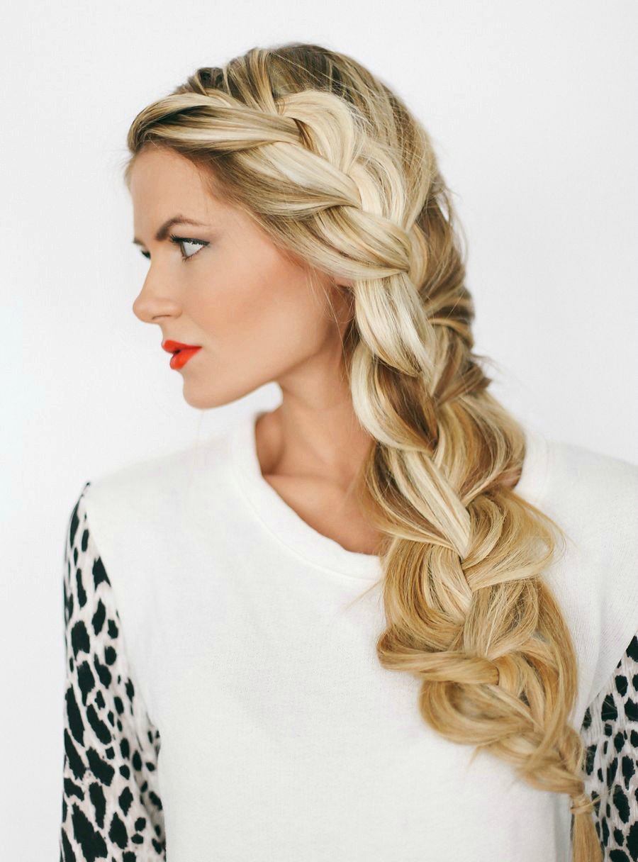 side braid messy video tutorial diy
