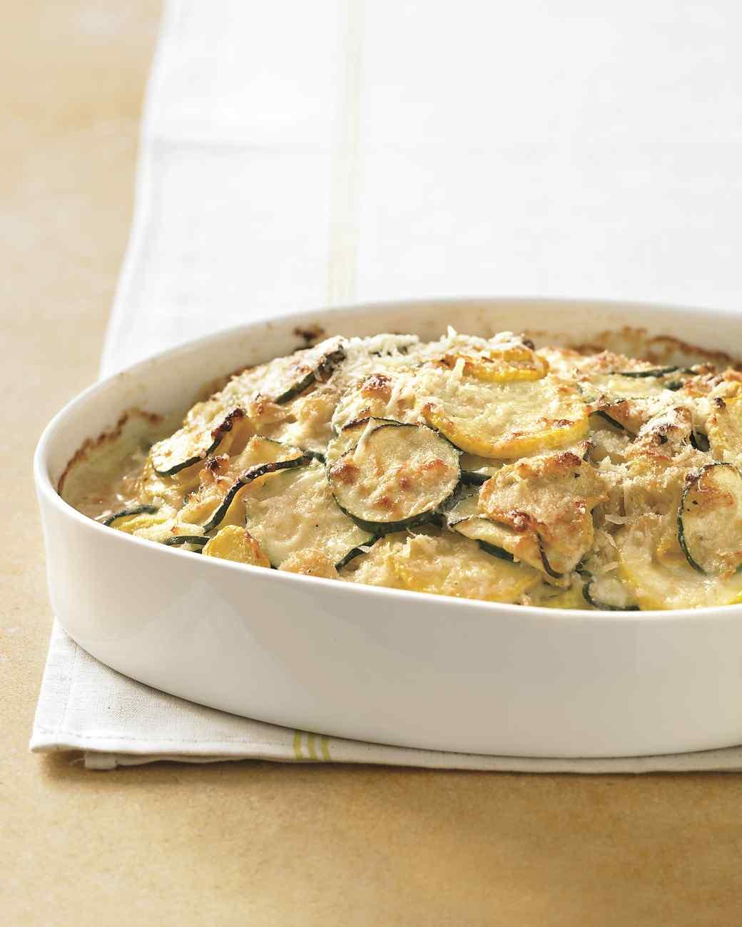 Zucchini and Yellow Squash Gratin (Casserole)
