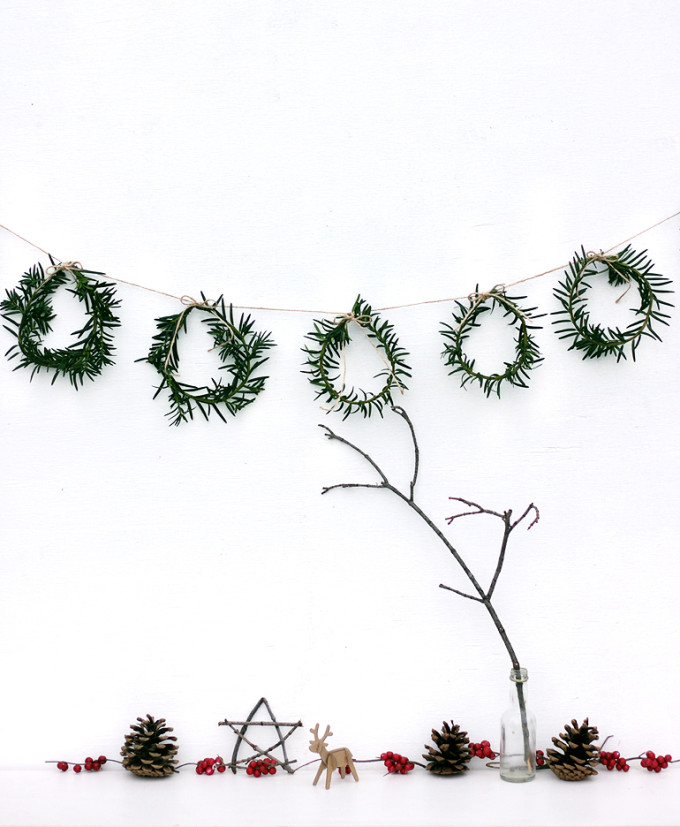 Mini Pine Branch Wreaths