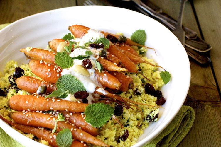 Planning the Menu - 22 Amazing Hannukah Recipes: Roasted Carrots with Cauliflower Couscous
