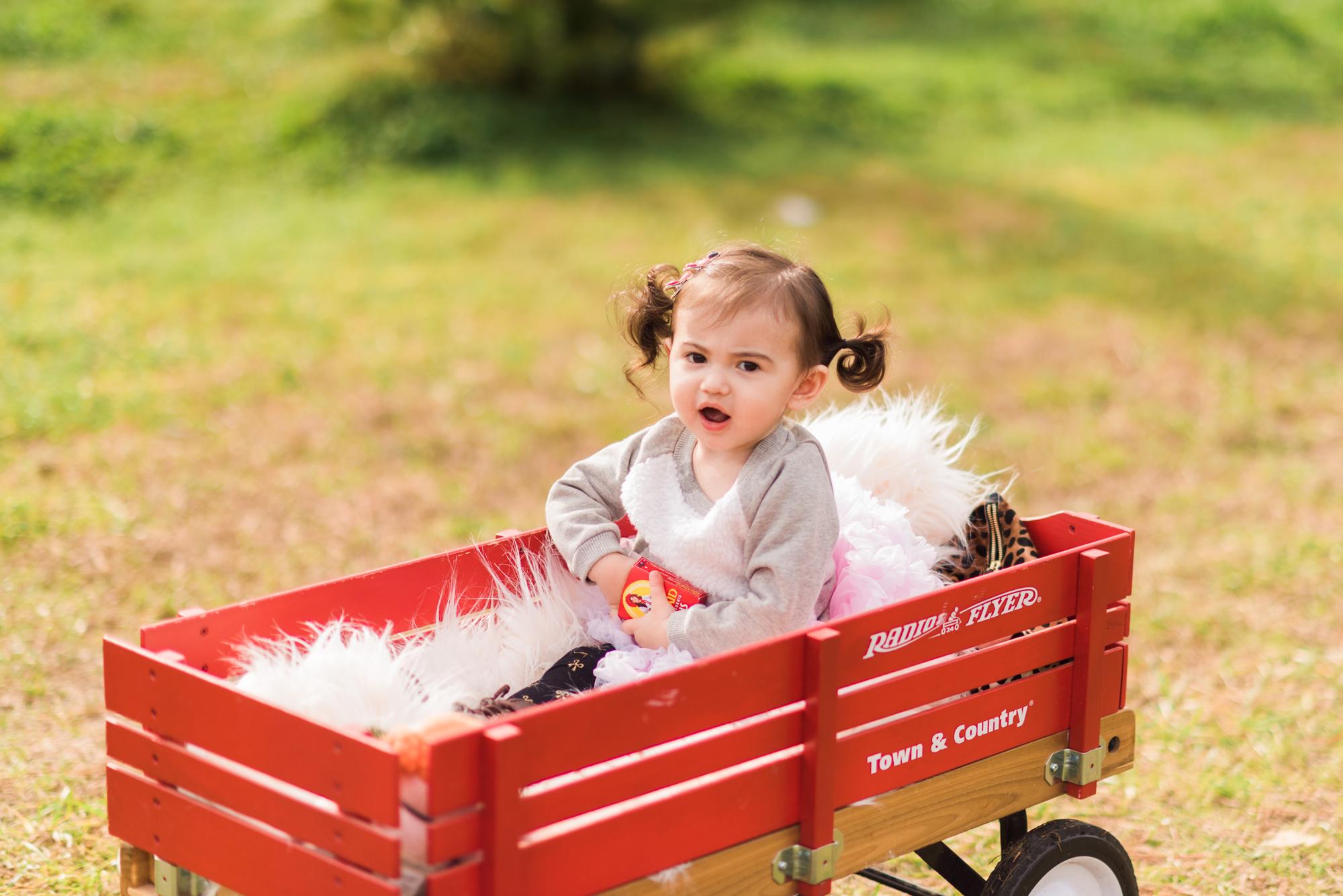 Holiday Family Photo Shoot - Scarlett out of raisins!