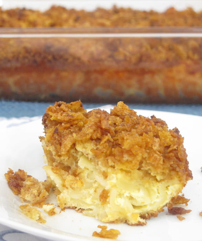 Planning the Menu - 22 Amazing Hannukah Recipes: Sweet Noodle Kugel with peaches