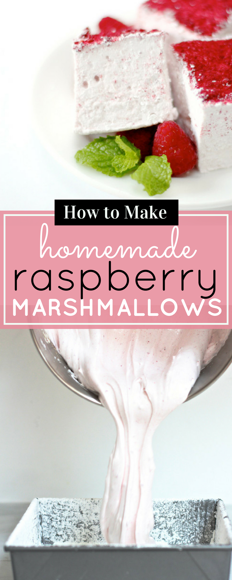 How to make fluffy homemade raspberry marshmallows (perfect for Valentine's Day!) Click through for the recipe. | glitterinc.com | @glitterinc