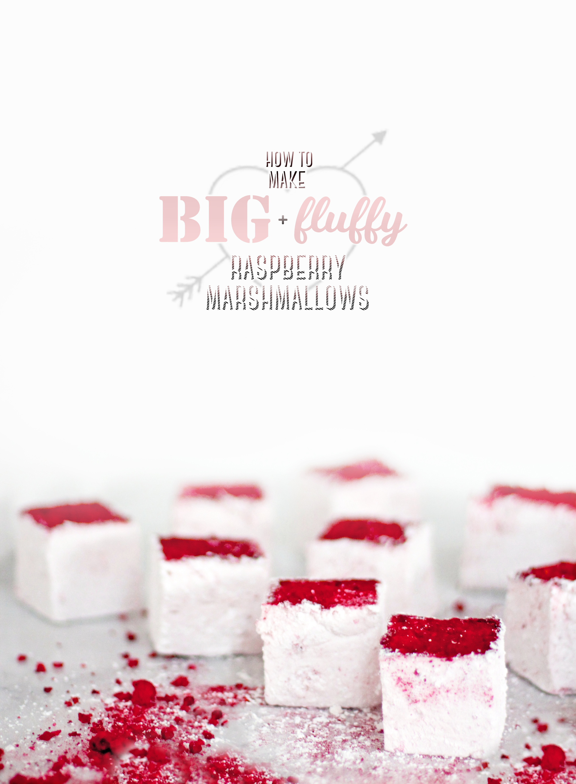 Big & Fluffy Homemade Raspberry Marshmallows (perfect for Valentine's Day!)