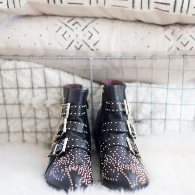 The Look for Less: Chloé Susanna Studded Booties by NC fashion blogger Glitter, Inc.